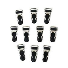 10x Corset Garter Belt Clips Hooks Suspender Ends for Hosiery Stocking Black