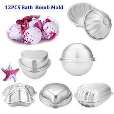 12Pcs 6 Set 6 Shape Metal Aluminum Bath Bomb Molds Moulds DIY Homemade Crafting