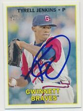 Tyrell Jenkins Gwinnett Braves Autographed 2016 Topps Heritage Card #169