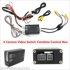 Front Rear Right Left Parking View 4 Way Channel Camera Video Switch Control Box