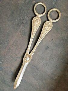 Antique Victorian Silver Plate Grape Scissors - Late 1800's - Hallmarked