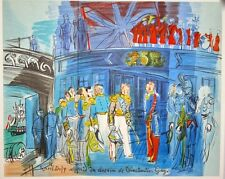"""Amiral anglais...""  lithographie signée Raoul DUFY"