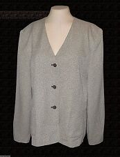 Blazer, Larry Levine Suits, Gray-Tweed Business Lined NWOT 18