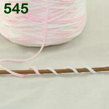 1 Cone 400g Worsted Cotton Chunky Super Bulky Hand Knitting Yarn Pink White