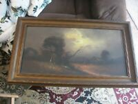 Chandler Listed Antique Circa 1890 's Pastel Painting Signed Bottom Right