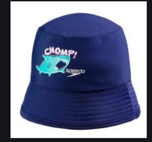 Speedo Kids' UPF 50+ Bucket Hat with Chin Strap CHOMP!!!