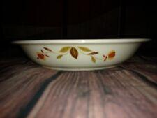 Vintage, HALL CHINA, JEWEL TEA AUTUMN LEAF PIE BAKING DISH PAN PLATE 9.5 inches