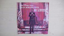 "Buena Vista Record Walt Disney's GREAT MOMENTS WITH MR. LINCOLN 7"" 33rpm 1964"
