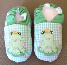 ZU by Petit Size 3 Ami Princess Frog Spring Green Shoes Baby Booties Slippers
