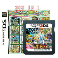 New 208 in 1 Video Game Cartridge Multicart for Nintendo DS NDS NDSL NDSI 2DS 3D