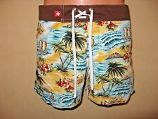 NEW MENS BOYS ANDREW CHRISTIAN SHORT HAWAIIAN SURF SWIM BOARD SHORTS SMALL 28/30