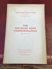 More details for the sherlock holmes society of london ! speckled band .menu charing cross 1966