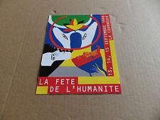 TICKET D'ENTREE OU VIGNETTE BILLET   LA FETE DE L'HUMANITE  DE L'ANNEE 1996