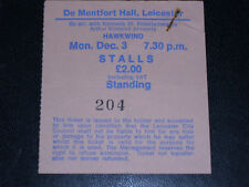 HAWKWIND Leicester 03/Dec/1979 - Used Ticket stub