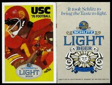 1976 University of Southern California Football Pocket Schedule - (Schlitz Beer)