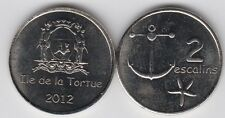 TORTUGA ISLAND (ILE DE LA TORTUE) 2 Escalins 2012,  Ø25mm unusual coinage