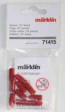 Märklin 71415 Plug Red 10 Pieces New /10 Red Plugs New