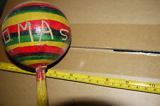 Colorful music gourd shaker (used) in band prior, markings Solid and well made