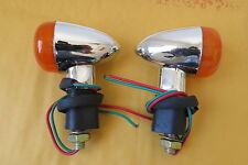 Suzuki Intruder Boulevard Volusia M90 C50 C90 Chrome Mini Bullet Turn Signals