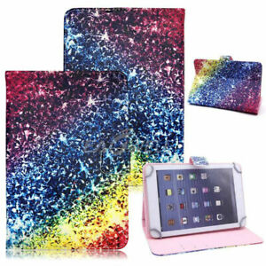 """Universal Adjustable PU Leather Stand Case Cover For Android Tablet 10.1"""" 7"""" 8"""""""