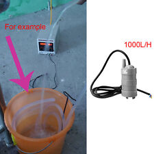 DC12V 5M Water Head Submersible Under Wash Bath Pump W/ Black Cable 1000L/H New