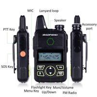 2X Baofeng Mini Radio BF-T1 UHF 400-470MHz 20CH Portable Ham FM Walkie Talkie QE
