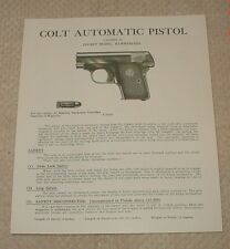 Colt 1908 .25 Cal. Semi-Auto Manual