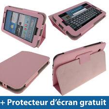 Étui Housse Case Rose Cuir PU pour Samsung Galaxy Tab 2 P3100 P3110 7.0 3G WiFi