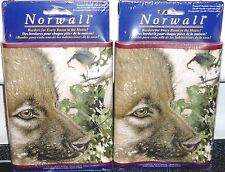 Norwall Wolf Pups Wolves Wolfpack Wall Wallpaper Boarder, 10 Yards, Easy Hang