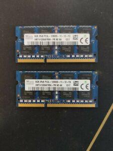 Barrette Mémoire 2x8Go RAM DDR3 Hynix HMT41GS6AFR8A-PB PC3L-12800S