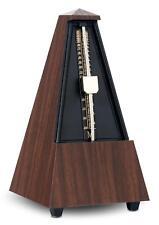 Klassisches mechanisches Metronom mit Glocke für ein gutes Taktgefühl in braun