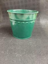 "New Dover M502Fg Green Small Metal Flower Misc. Tub Can Pail 6"" X 5"""
