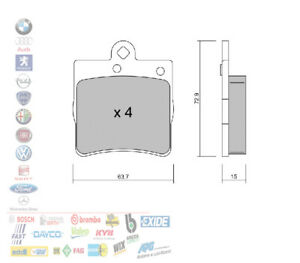 PASTIGLIE FRENO POSTERIORI CHRYSLER CROSSFIRE MERCEDES CLASSE C W203 E W210 3.2
