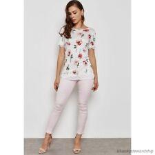 Dorothy Perkins Frankie Super SKINNY Jeans Pink Size UK 10 Lf087 FF 09