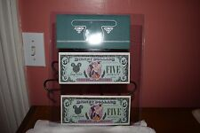 (2) DISNEY DOLLARS~1987&1988 $5 GOOFY~A SERIES~LOW#'S~TRANSPOSED#'S~UNCIRCULATED
