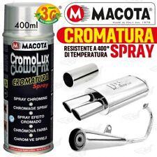 Macota CROMOLUX Vernice Cromata Spray 400ml Cromatura Resistente al Calore Cromo