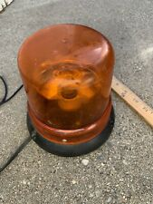 Vintage Dome Revolving Police Fire Emergency Light Works yellow magnatic