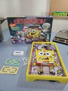 Operation Spongebob Squarepants Skill Game Nickelodeon MB 100% Complete 2007