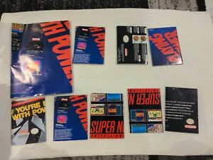 Lot of 9 NES And SNES Posters