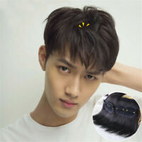 Men Topper Hairpiece Remy Human Hair Clip Toupee Hair Extension For Loss Hair