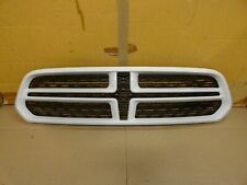 2014 - 2018 Dodge Durango RT OEM Complete Upper Grille White p/n 05113717AC