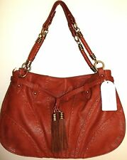 NWT $118 Jessica Simpson Kenya Hobo in Praline Brown with Brass Details