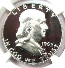 1963 PROOF Franklin Half Dollar 50C Coin - NGC PR69 Cameo (PF69) - $1,080 Value!
