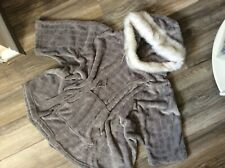 Beautiful Women's Thick Grey Cosy Lounge Wear Poncho With Hood By F&F Size S/M