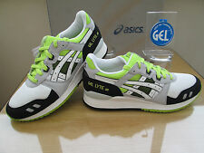ASICS GEL-LYTE 111 CITY MESH WHITE BLACK GREY NEON TRAINERS SIZE UK 8 EU 41.5