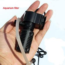 Fish Tank Mini Black 3 in1 Internal Filter Pump £7.99 UK PLUG UK STOCK FREE P+P
