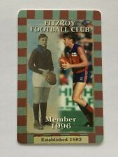 3 1996 FITZROY MEMBERS CARD TICKET ADULT CONCESSION COUNTRY  FINAL YEAR