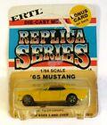 Ertl 1/64 Replica Series 65 Mustang Yellow On Card Sealed #1889