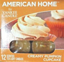 American Home by Yankee Candle 12  Tea Lights Creamy Pumpkin Cupcake new