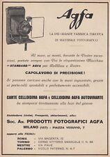 Z5211 Macchina fotografica AGFA - Pubblicità d'epoca - 1928 vintage advertising